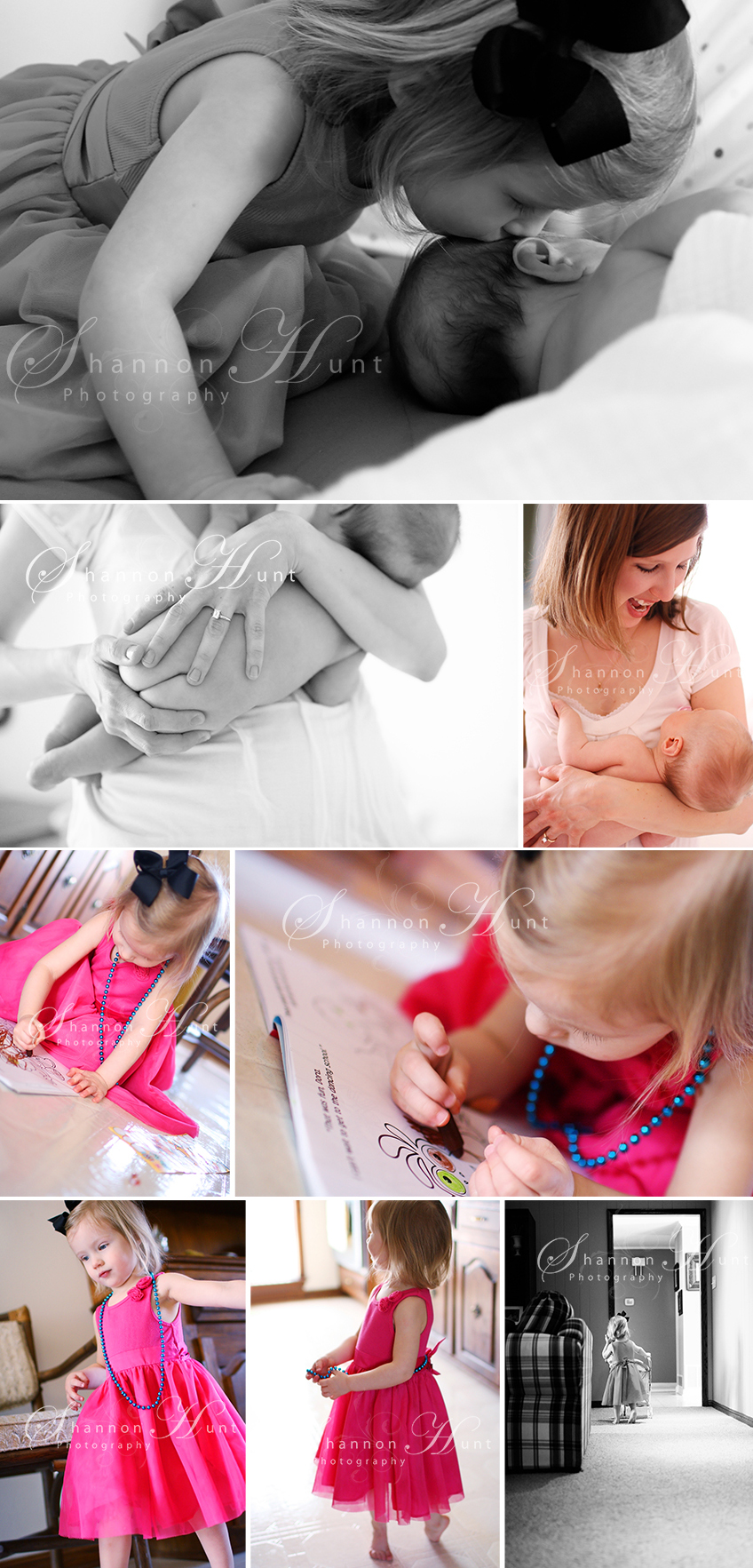 mother, daughter, and newborn by Temple TX family, child, baby, and newborn photographer