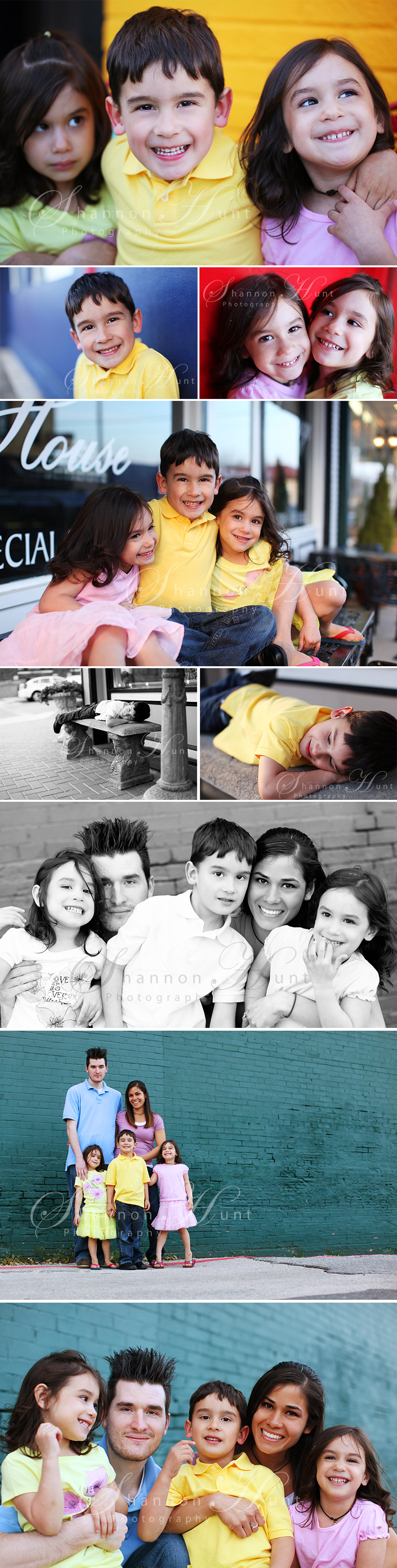 family downtown by McKinney Texas family portrait photographer