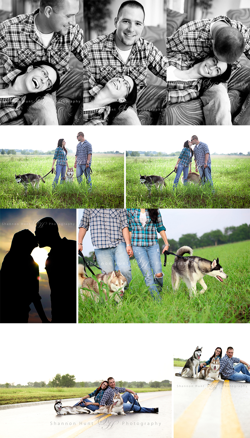 couple and dogs by Temple TX photographer