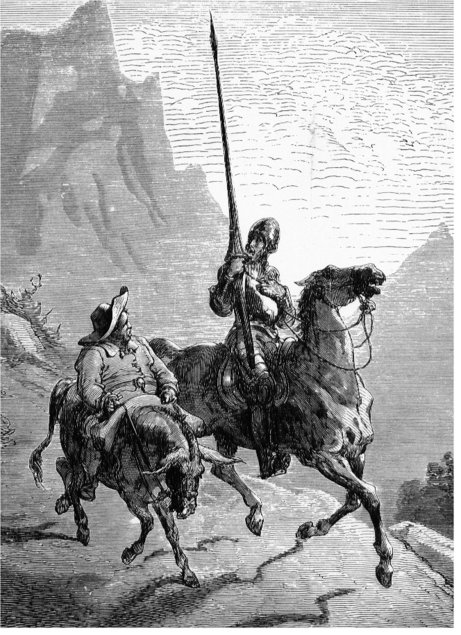 """Don Quijote and Sancho Panza"" by Gustave Doré - originally uploaded on nds.wikipedia by Bruker:G.Meiners at 14:22, 28. July 2005. Filename was Don Quijote and Sancho Panza.jpg.. Licensed under Public domain via Wikimedia Commons"
