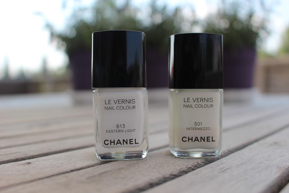 Eastern light er den sommerens hvite Chanel lakk, og Intermezzo er fra fall 2009.