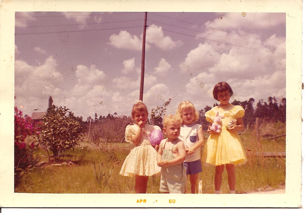 Merle, Rusty, Paula & Rosanne, Easter 1960
