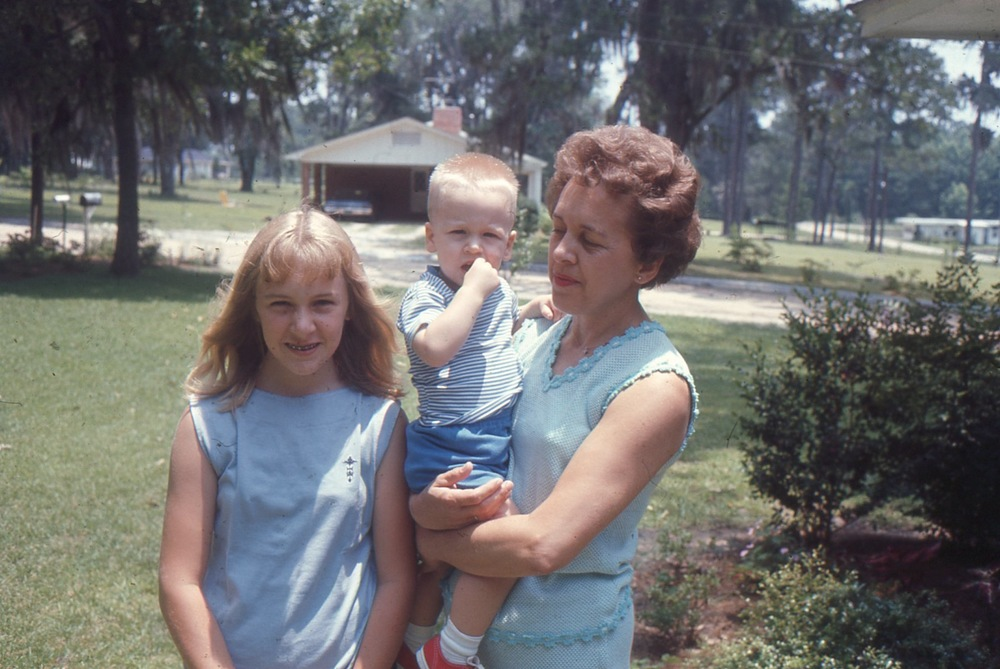 Paula, Lawson and Rosie, Mother's Day 1967