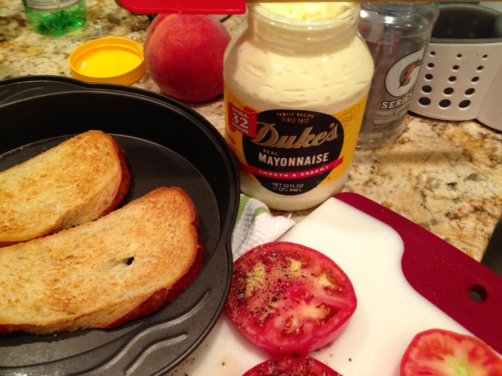 Duke's Mayonnaise on a Tomato Sandwich
