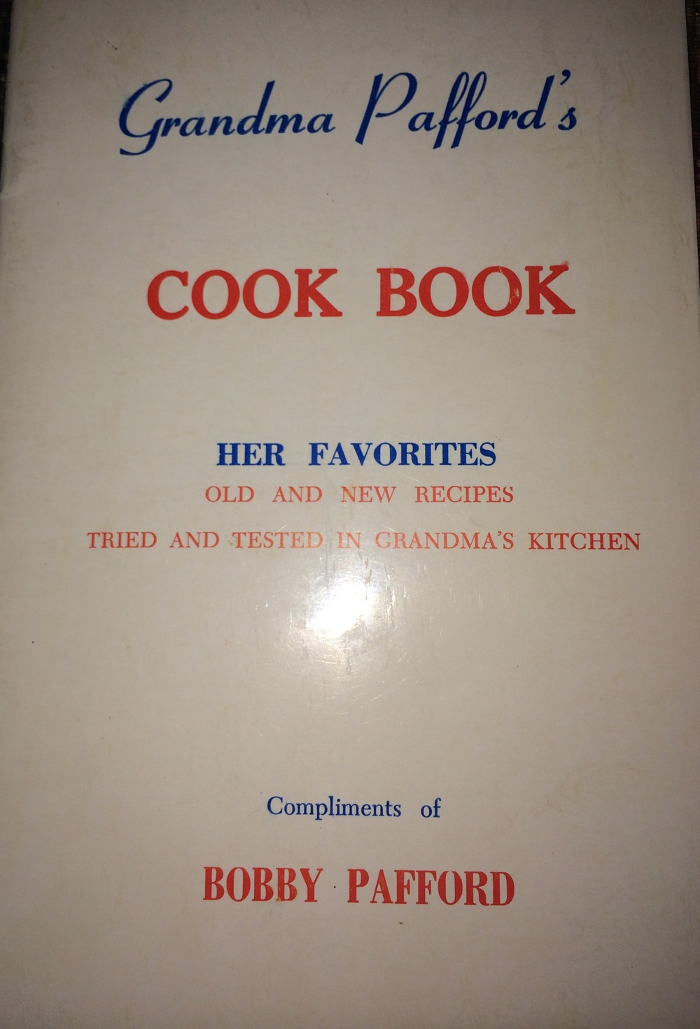the first community cookbook I was ever aware of from my hometown of Lakeland, Georgia
