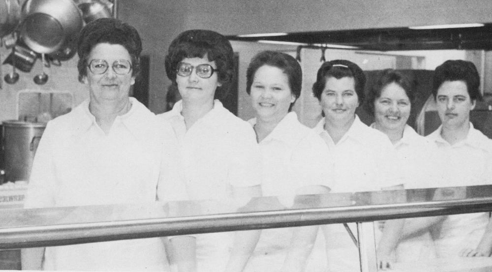 Lunchroom Ladies, Lanier County High School, 1981