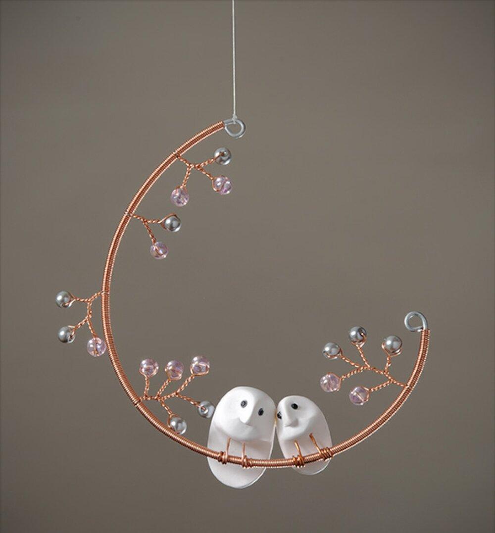 Love Owls in a Teardrop Moon