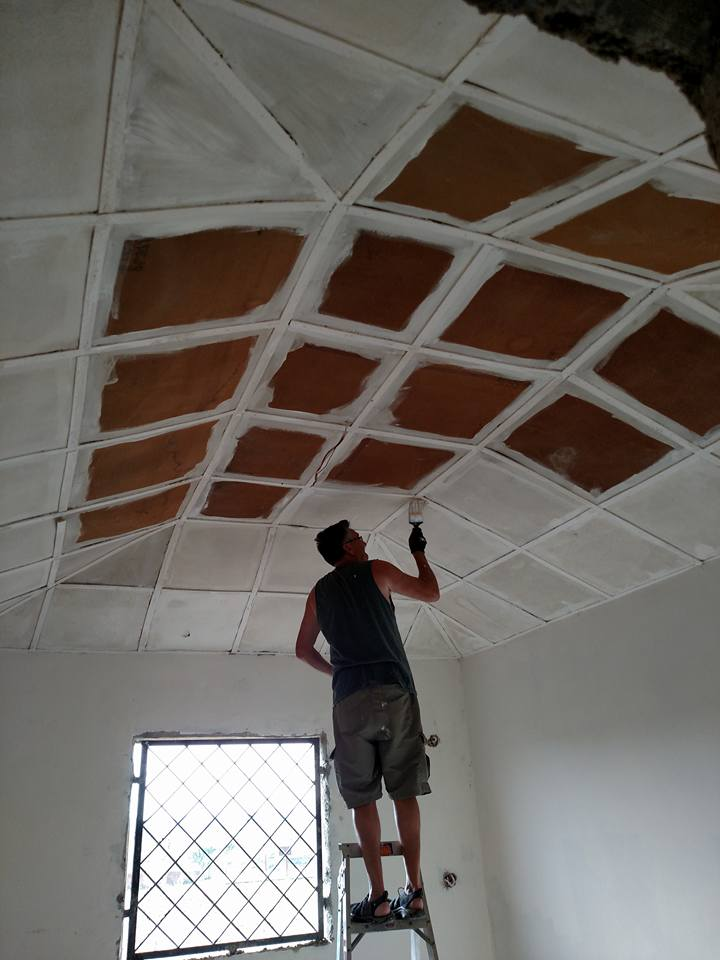 Ceiling work that never ends for Steven Herman