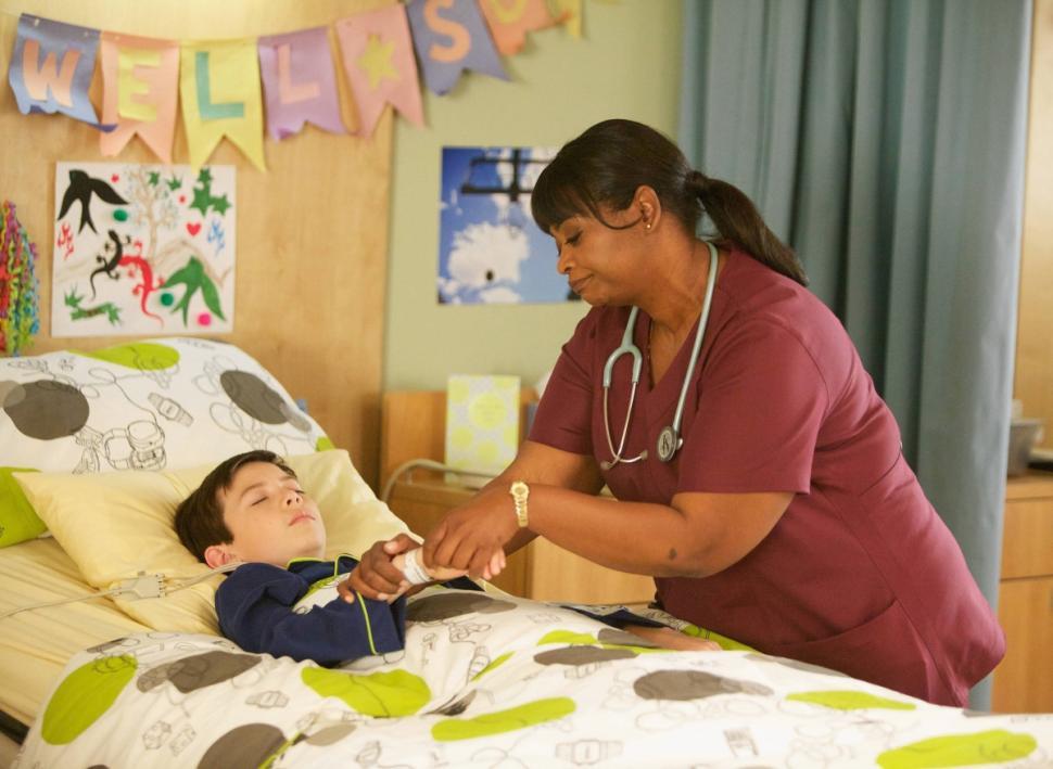 Octavia Spencer and Astro as Nurse Jackson and Dash