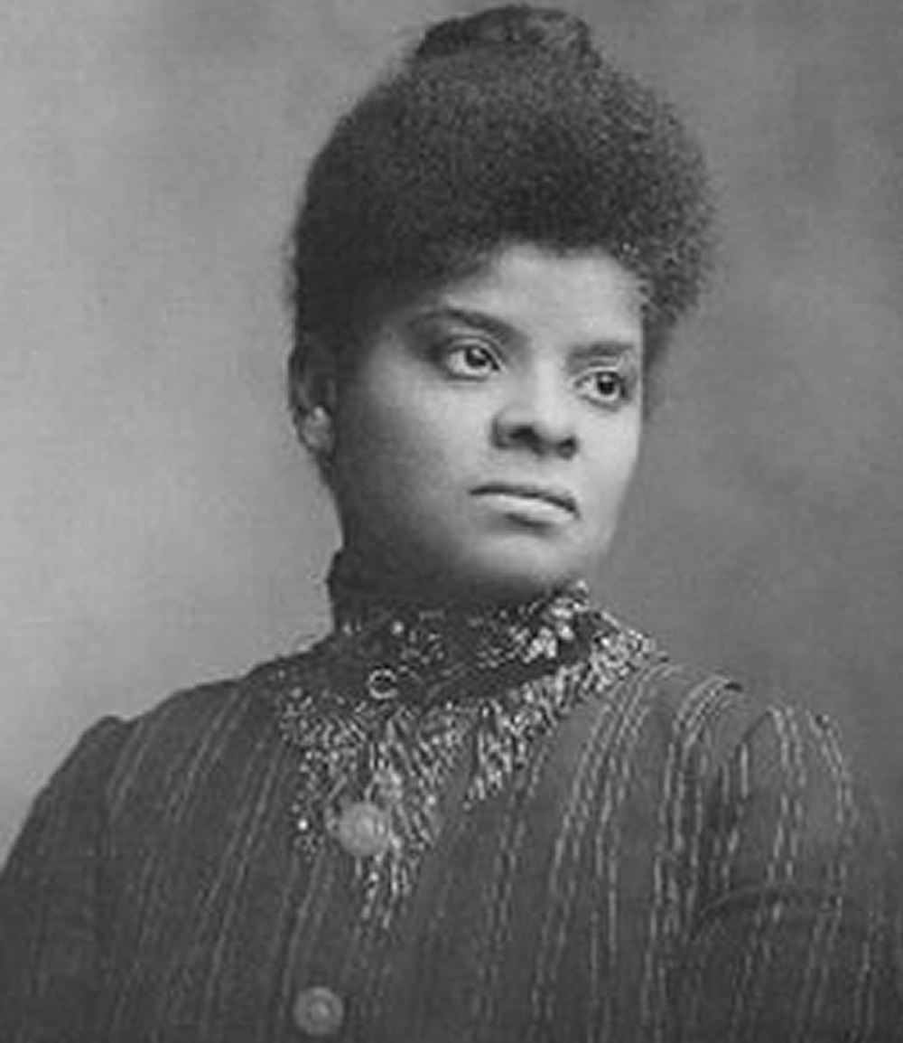 Ida B. Wells (1862-1931) was an African-American journalist and activist who led an anti-lynching crusade in the United States in the 1890s.