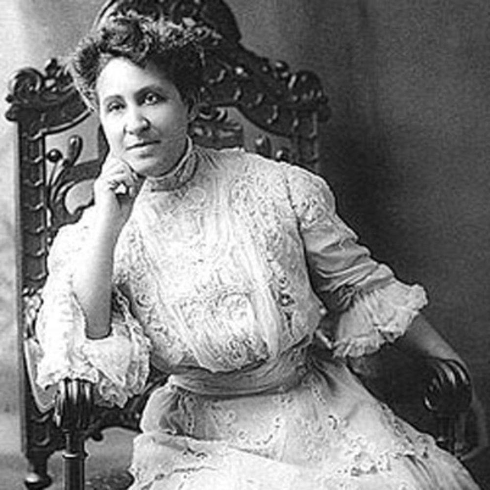 Mary Church Terrell (1863-1954) was a charter member of the NAACP and an early advocate for civil rights and the suffrage movement.