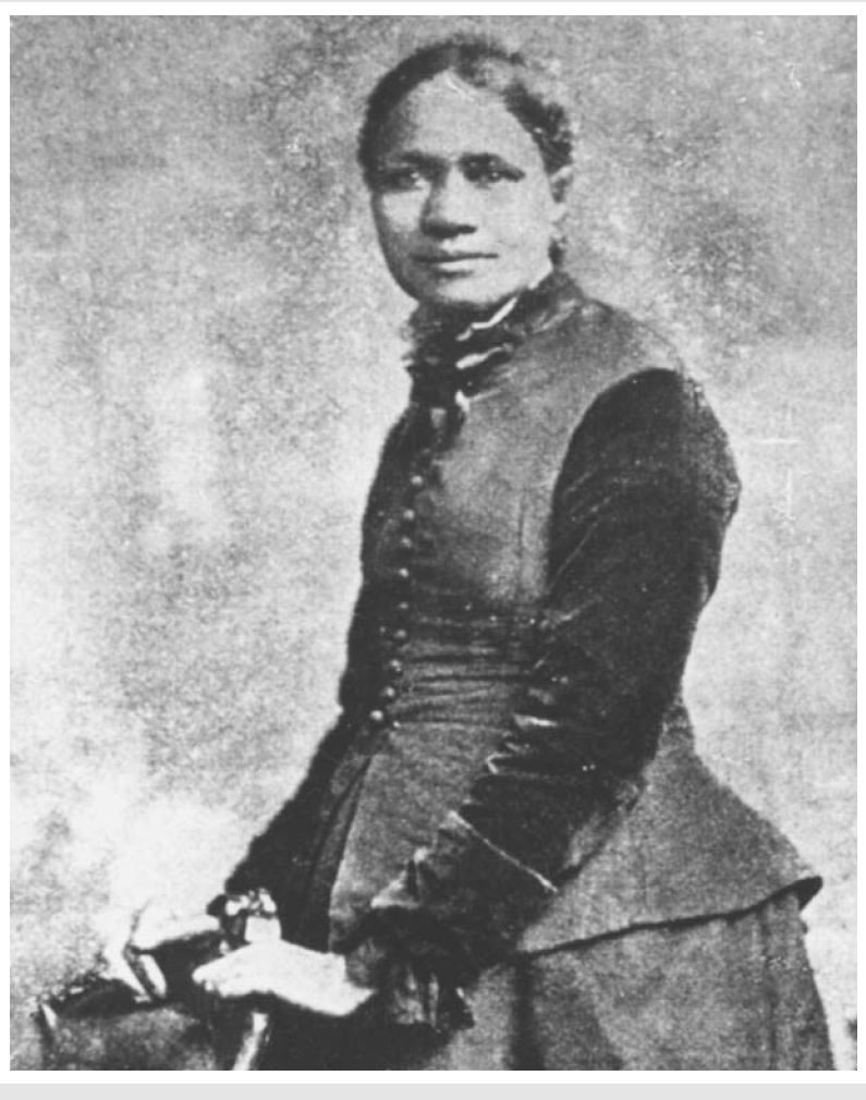 Poet and orator Frances E.W. Harper (1825-1911), the child of two free black parents, publicly advocated for abolition and education through speeches and publications.