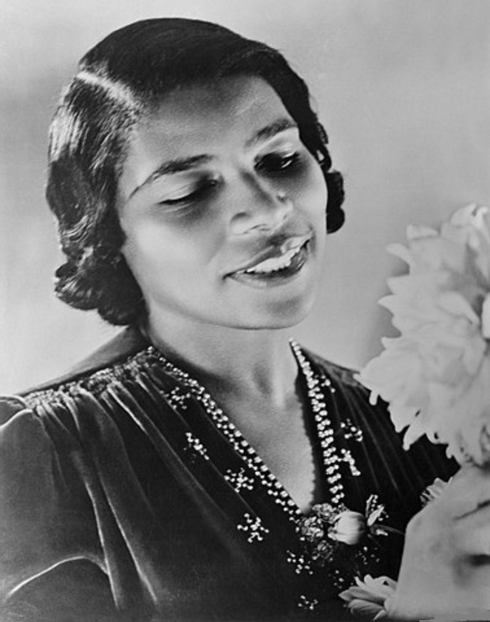 Deemed one of the finest contraltos of her time, Marian Anderson (1897-1993) became the first African American to perform with the New York Metropolitan Opera in 1955.