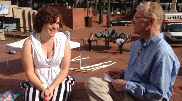 Alexia with Bill Geist on CBS Sunday Morning