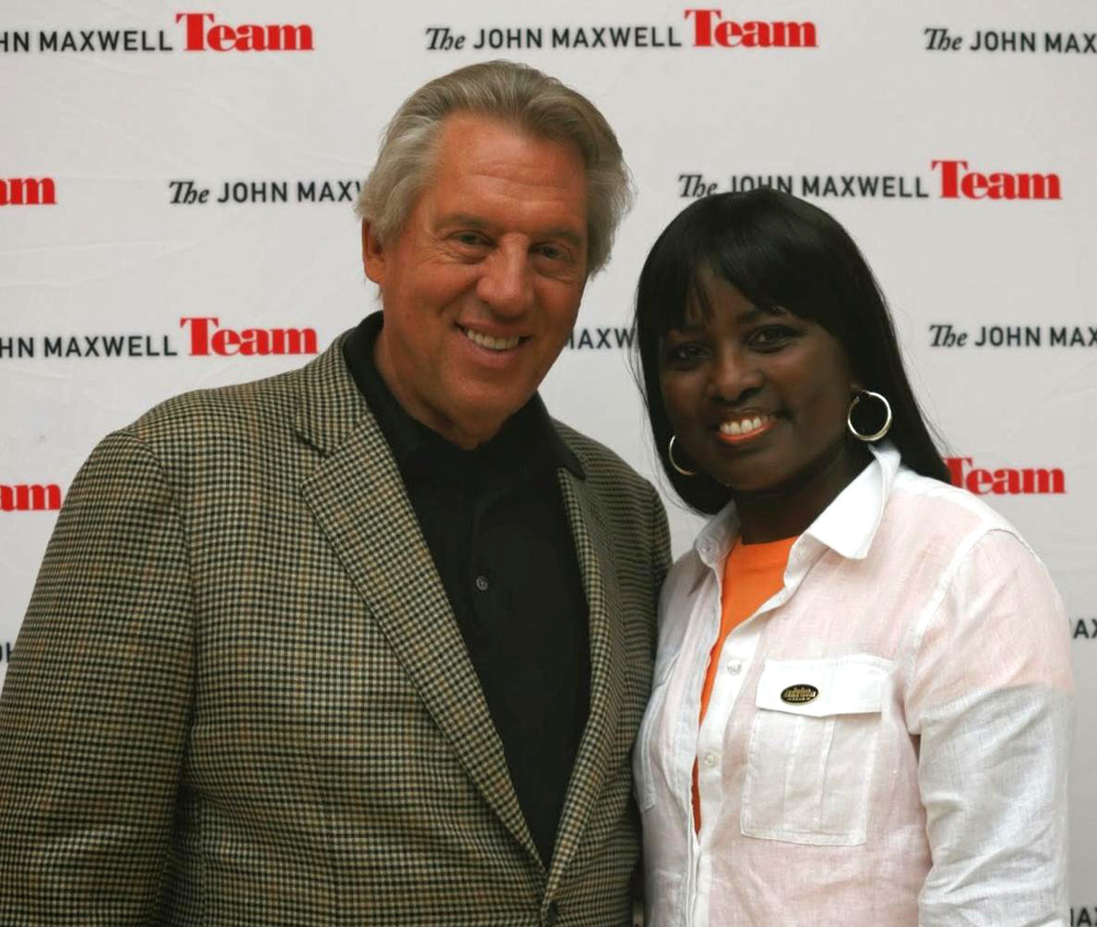 Pat Freeman with John Maxwell in February of 2014.