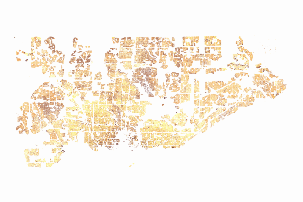 Residential Households by Building Footprint Size - Source: Toronto Open Data