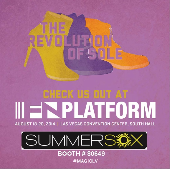 SummerSox makes its debut at Magic/FN Platform... Visit us at booth 80649 to discover the ULTIMATE NO-SHOW socks