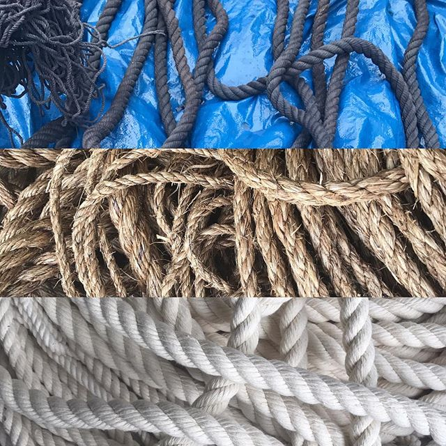 Another day another project!  Prepping rope for our @canopythewharf installation in a few weeks.  Have you been to @thewharfdc yet?!