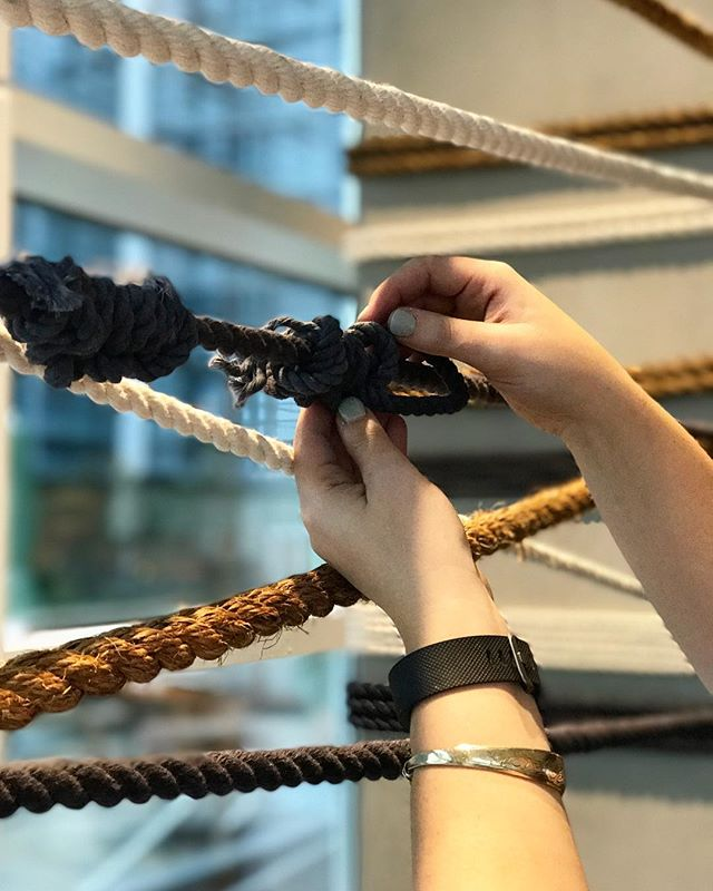 This weekend was action packed / L+M wedding ✨@maketto1351  and all the rope + knots today at @canopythewharf