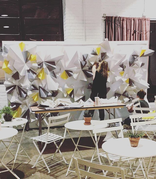 Burning the midnight oil - prepping our backdrop for @burn.both.ends ✨