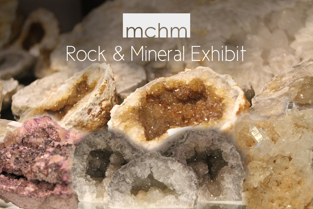 The MCHM Rock & Mineral Exhibit is now open at the Museum Complex! A wide assortment of items are available to view, touch, and interact with.  Come visit today!