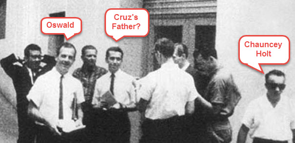 Is this photo proof positive that Oswald was in league with Ted Cruz's father, Rafael? Quite the contrary.