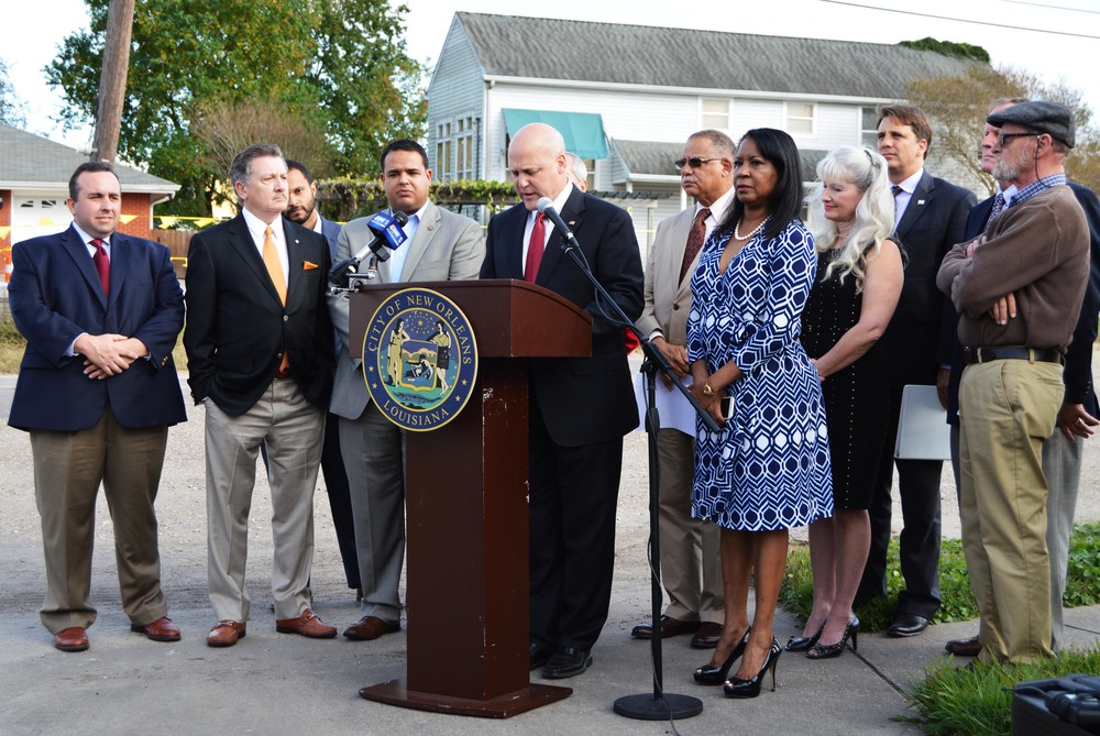 Mayor Landrieu and the Fix My Streets Financing Working Group