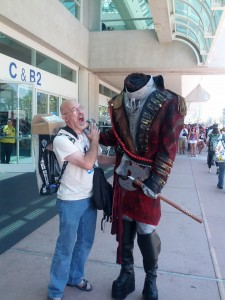 I got a photo with one of the Fox promotional Headless Horsemen