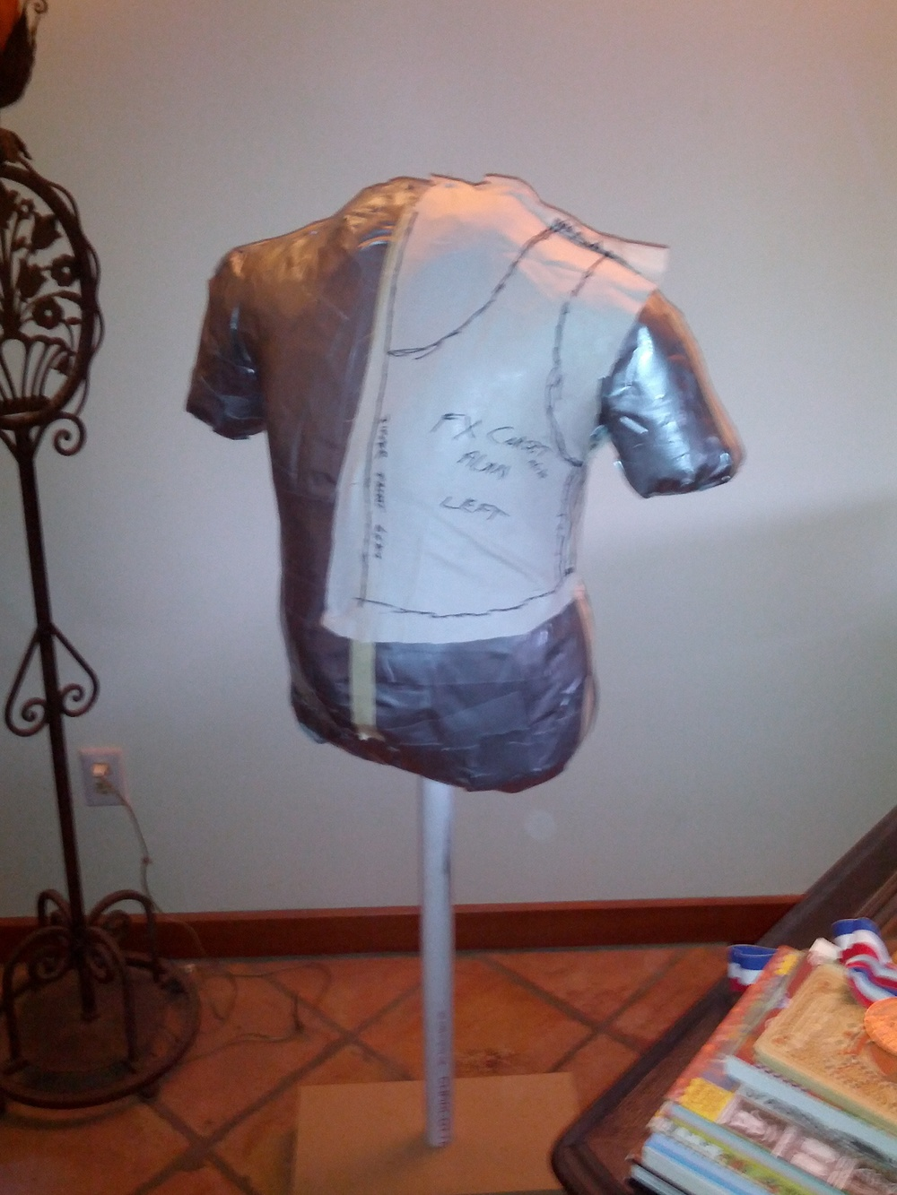 Making a pattern on muslin that fits to my body form