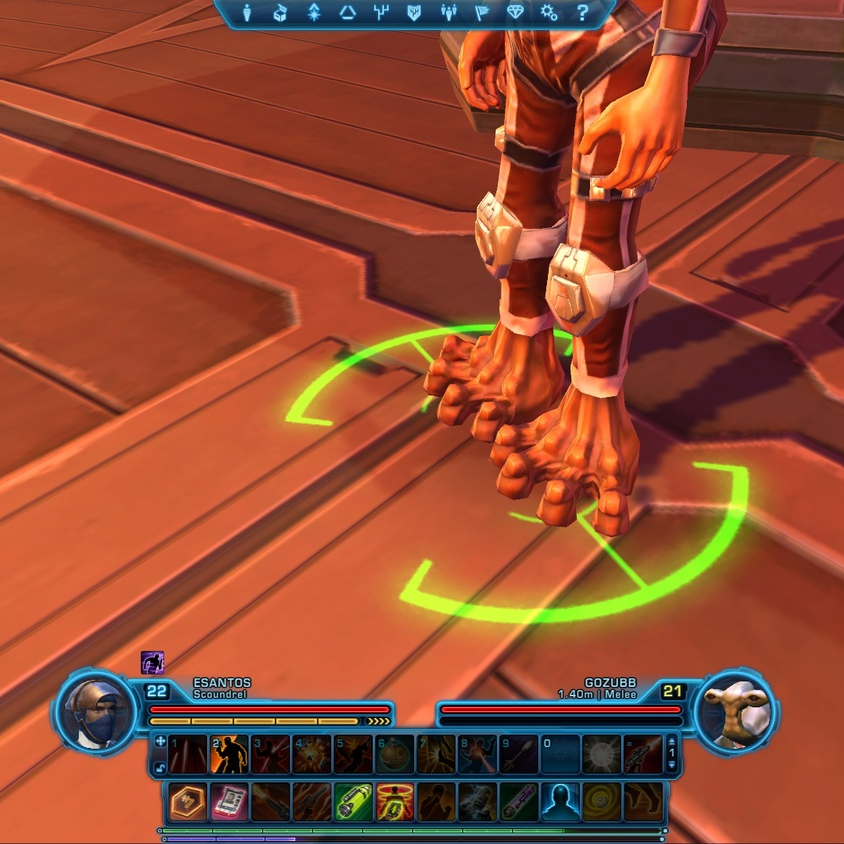 Star Wars: The Old Republic, hands and feet