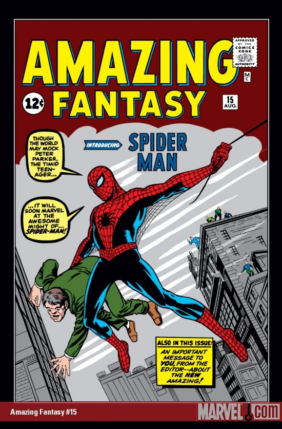 First appearance of Spider-Man in Amazing Fantasy #15