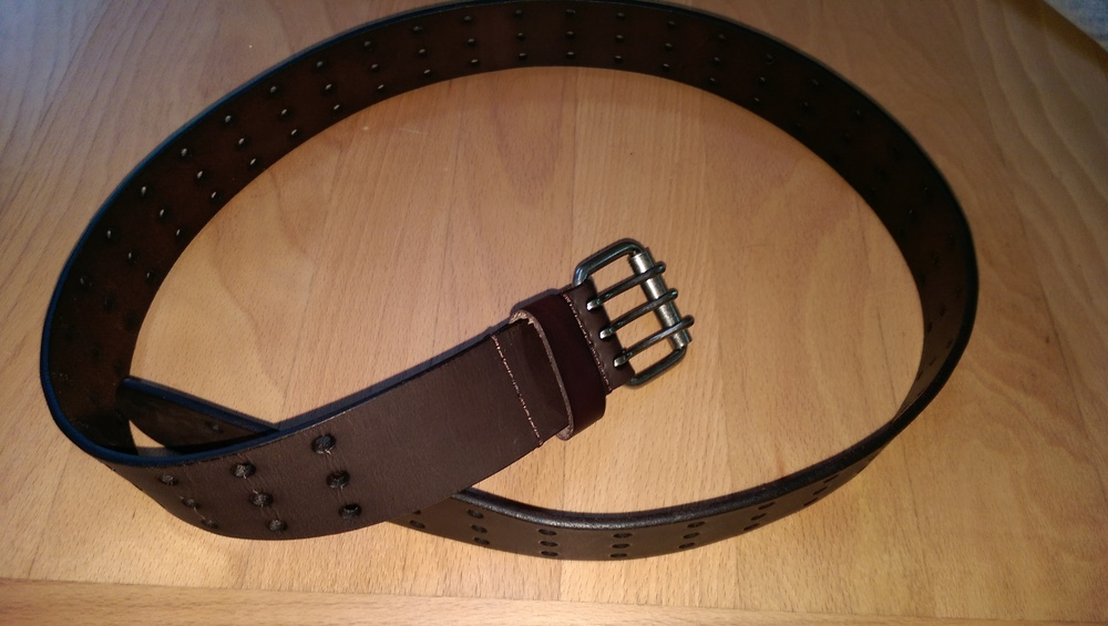 That crazy triple hole belt - the right size this time