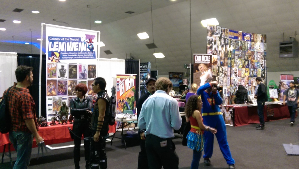 Inside the first hall: celebrities, comics, and more cosplay