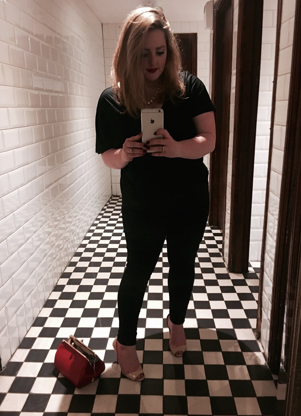 There I am now. Taking an oul selfie in the loo. Classy.