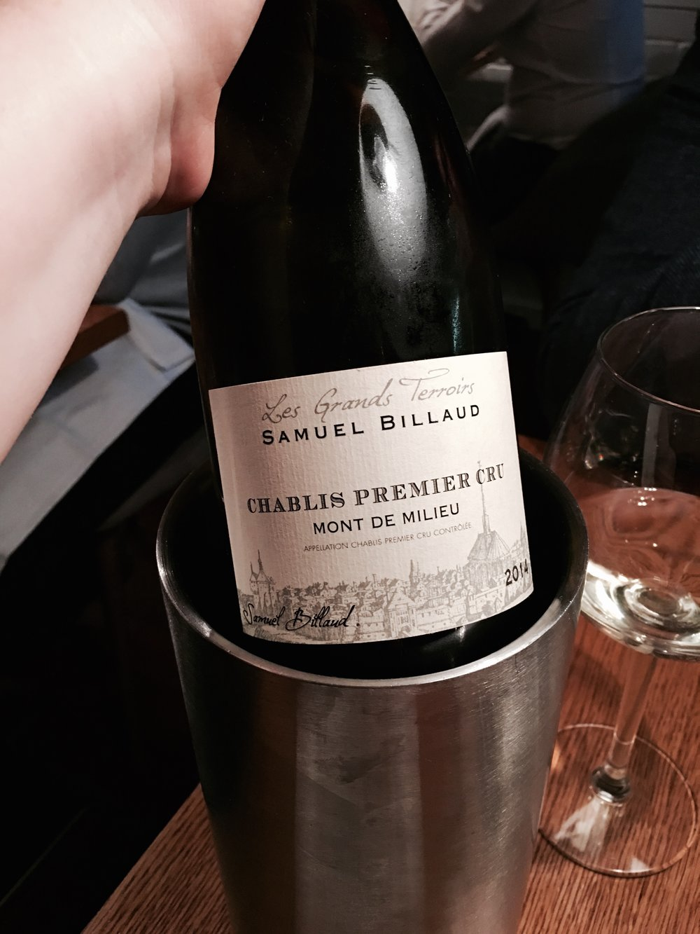 Delicious Premier Cru Chablis from the Premium Wine menu.