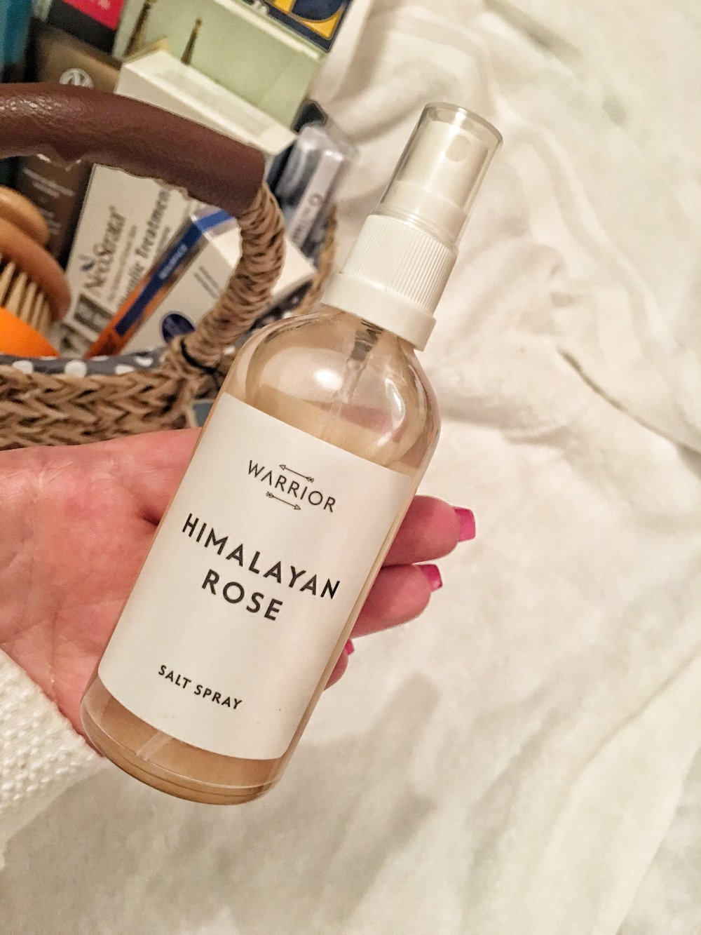 Irish product! Warrior Himalayan Rose salt spray for beachy textured hair (and it smells divine).