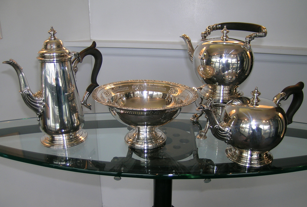 Antique Silver Tea Service.