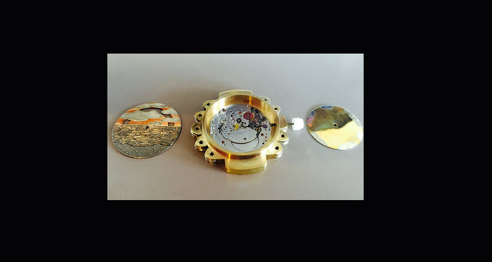 New hand-built watch! Clouds move across the sky!