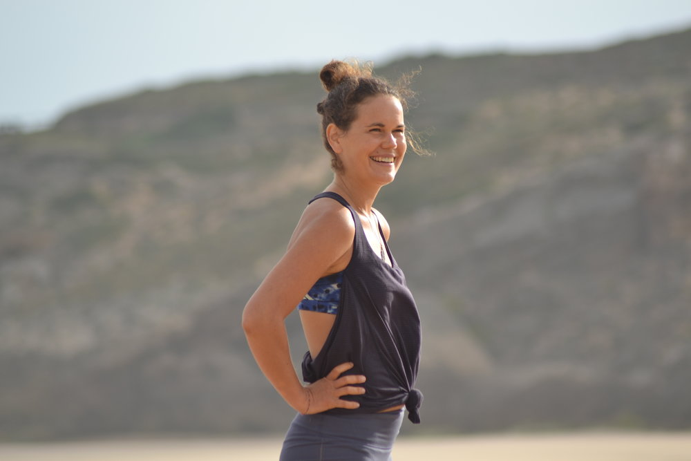 Clotilde from France, our great yoga instructor.