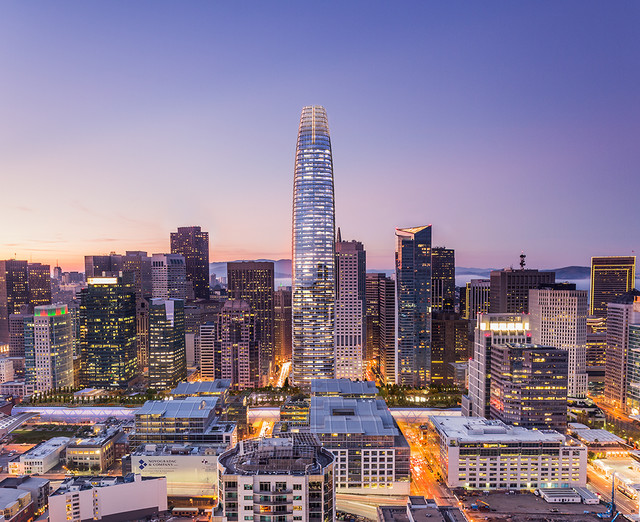 The Salesforce Tower stands in San Francisco in this artist rendering released to the media on April 10, 2014. Source: Steelblue LLC via Bloomberg.
