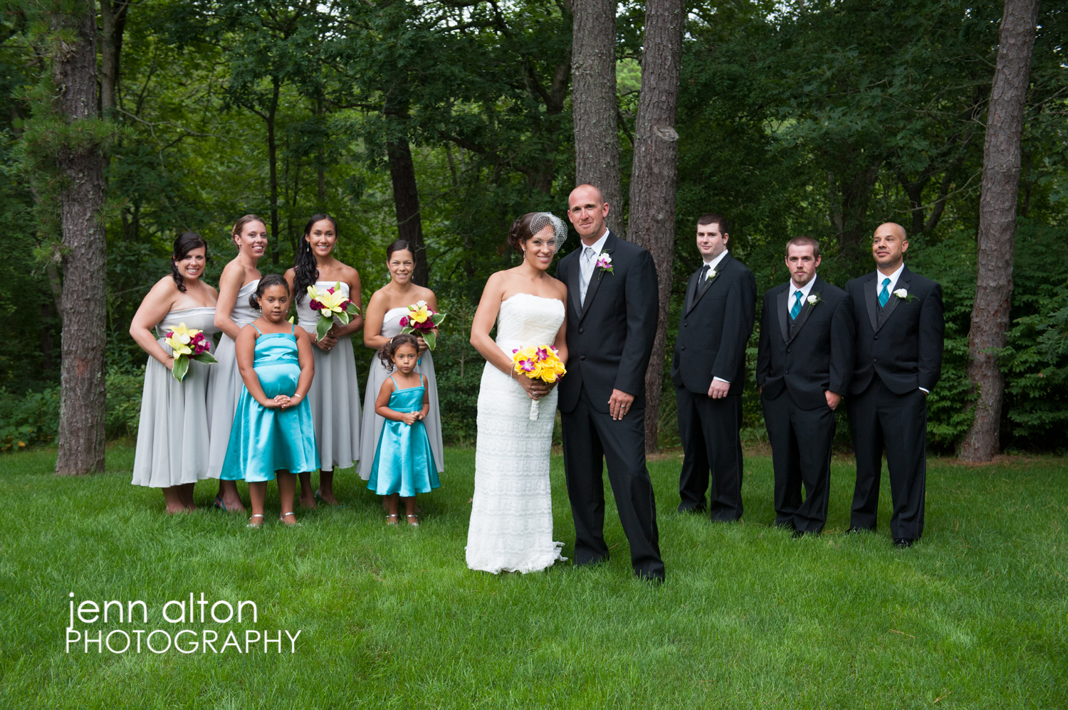Bridal party group photo, Cape Cod Wedding