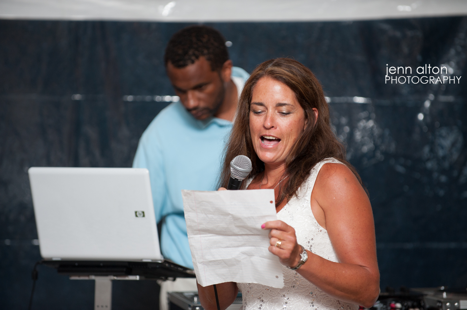 Speech and toast for couple, cape cod wedding.