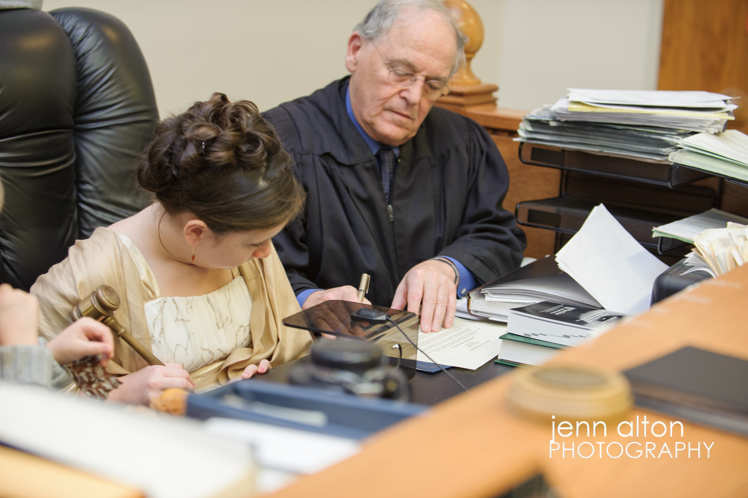 judge on adoption day in courtroom
