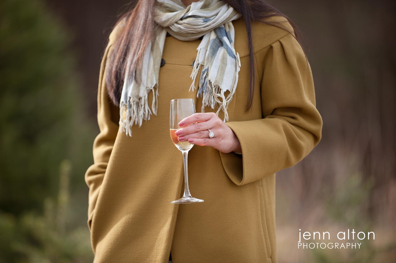 Champagne toast, Surprise Proposal, Smolak Farm