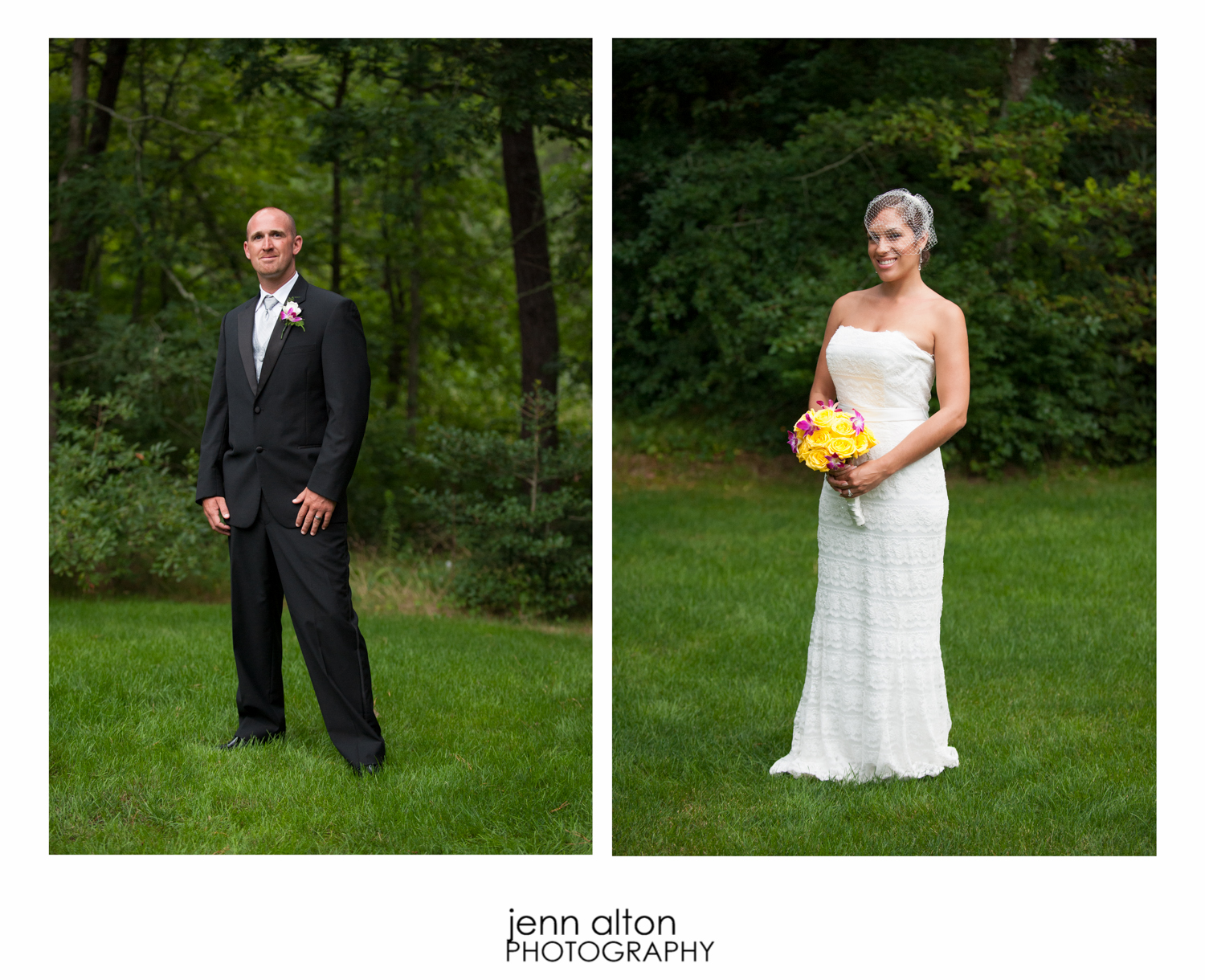 Bride and groom portrait, Cape Cod Wedding