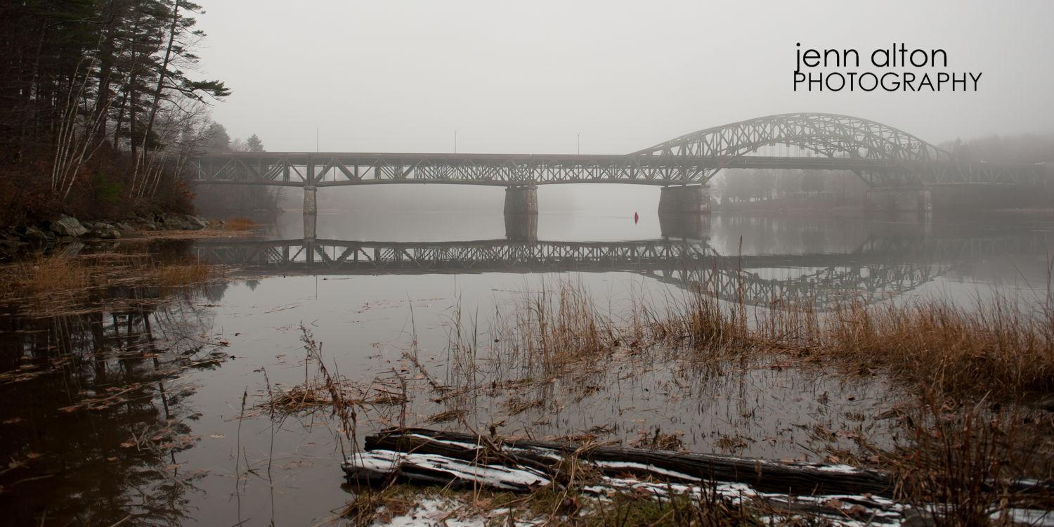 Maudsley Park, Newburyport, MA bridge, fog