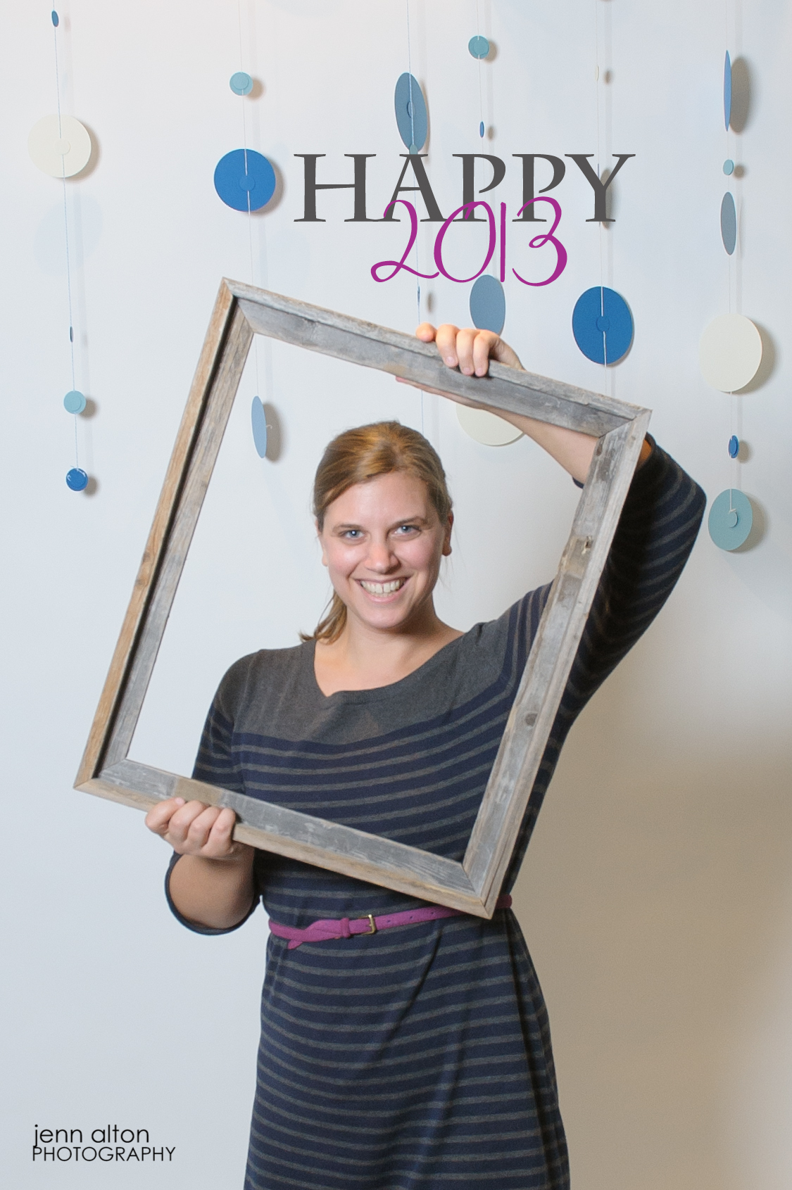 NewYear, photobooth with wooden frame