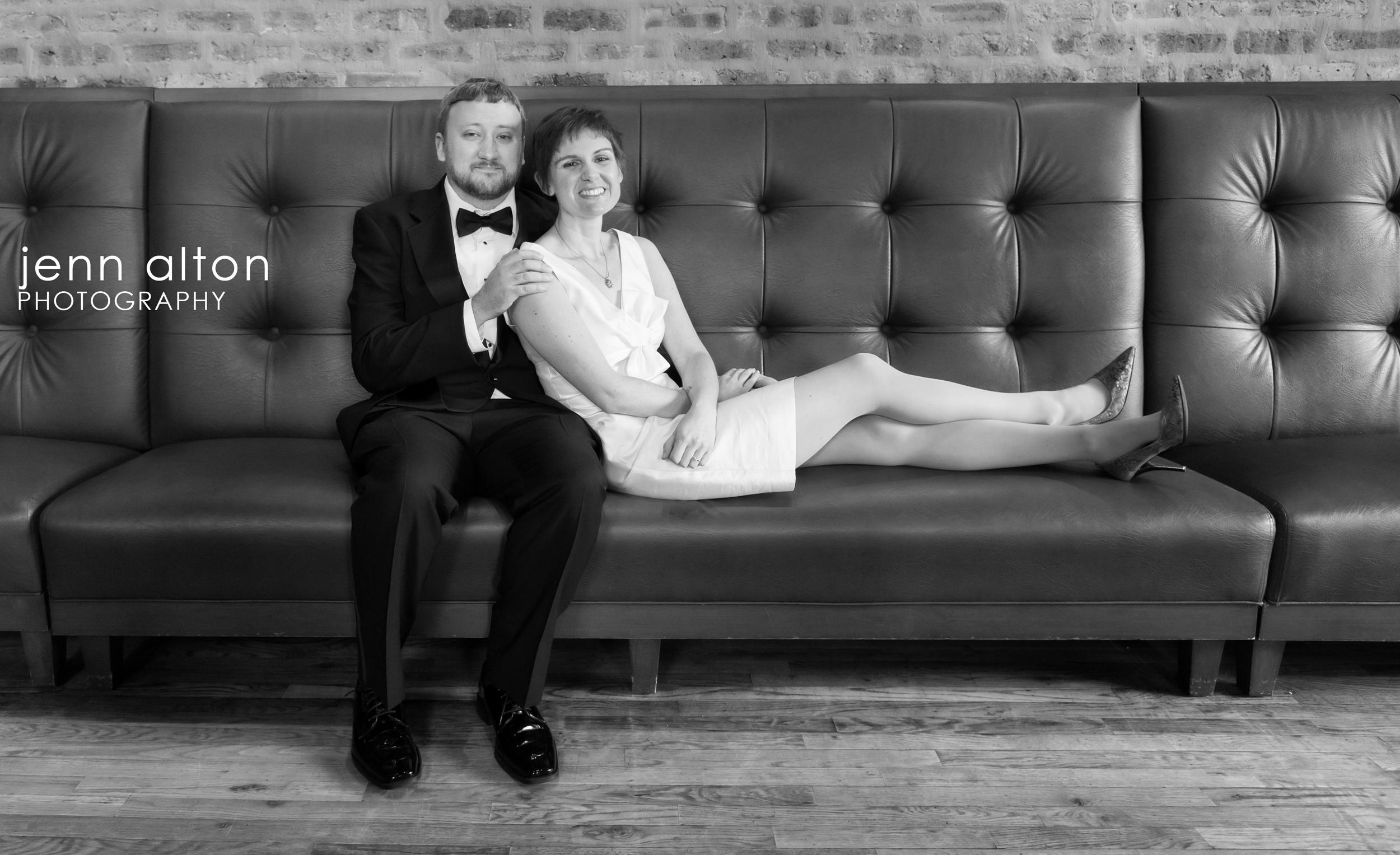 Bride and Groom , Uncommon Ground on Devon, sofa