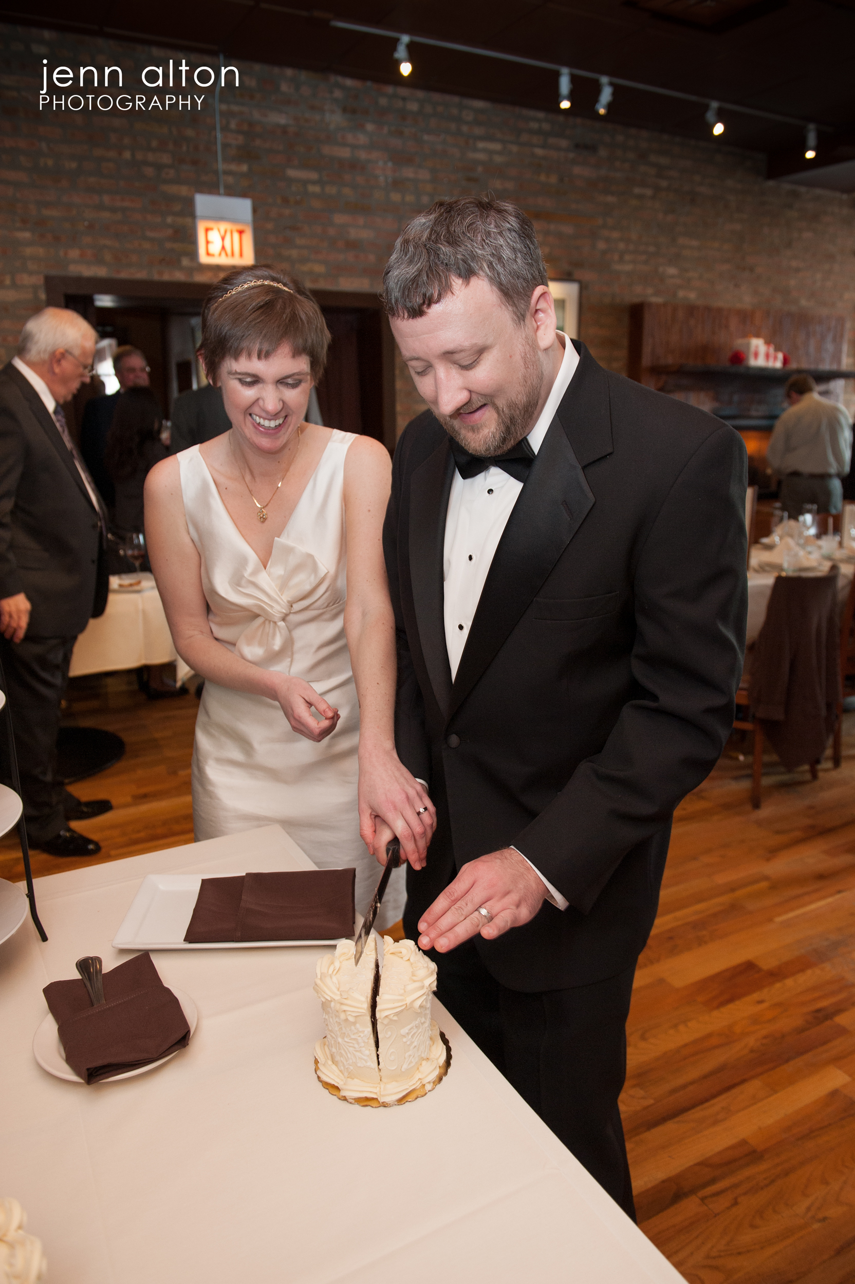 Cake cutting, West Town Bakery & Diner