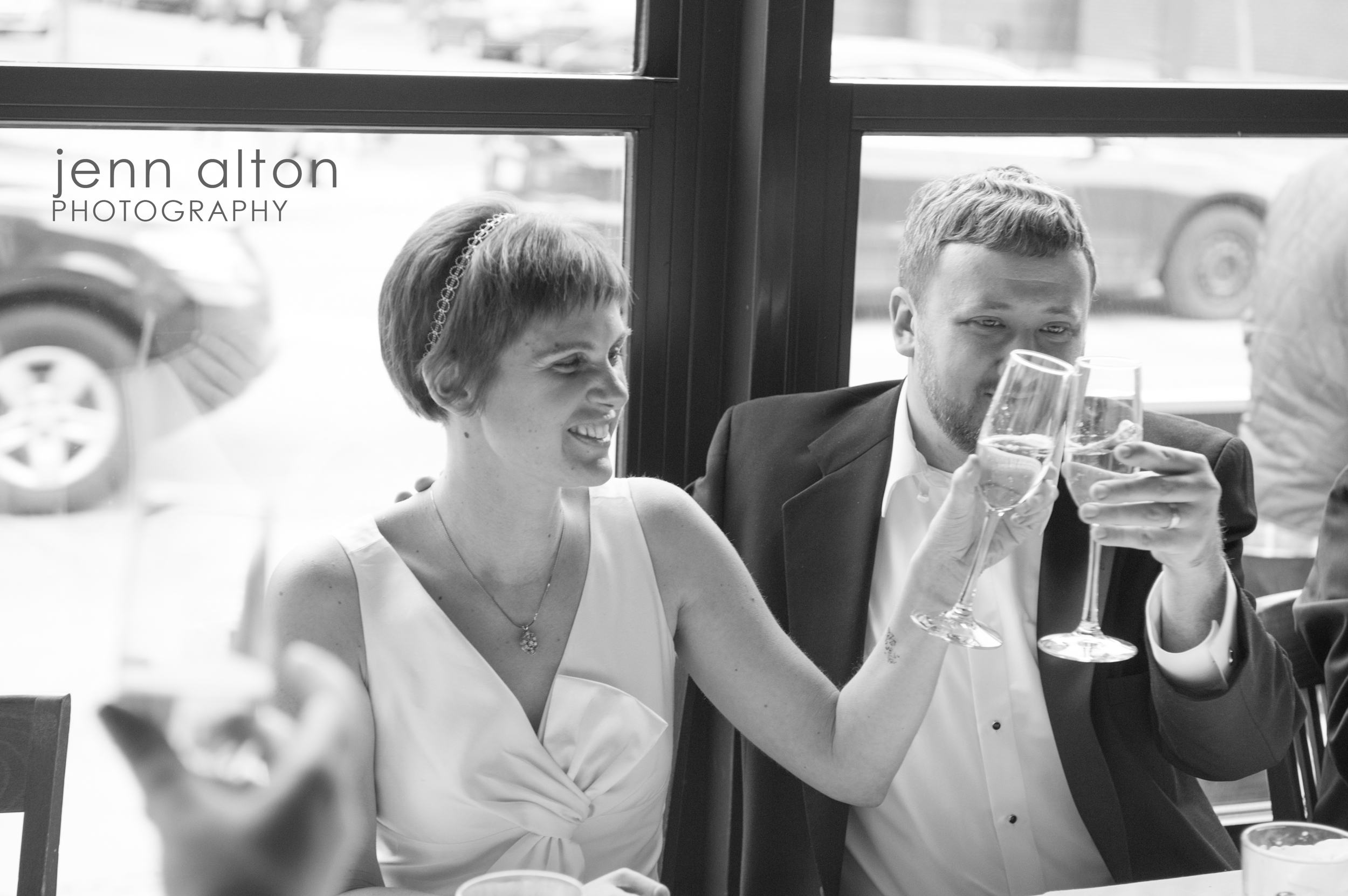 Toasting the bride and groom , Uncommon Ground on Devon